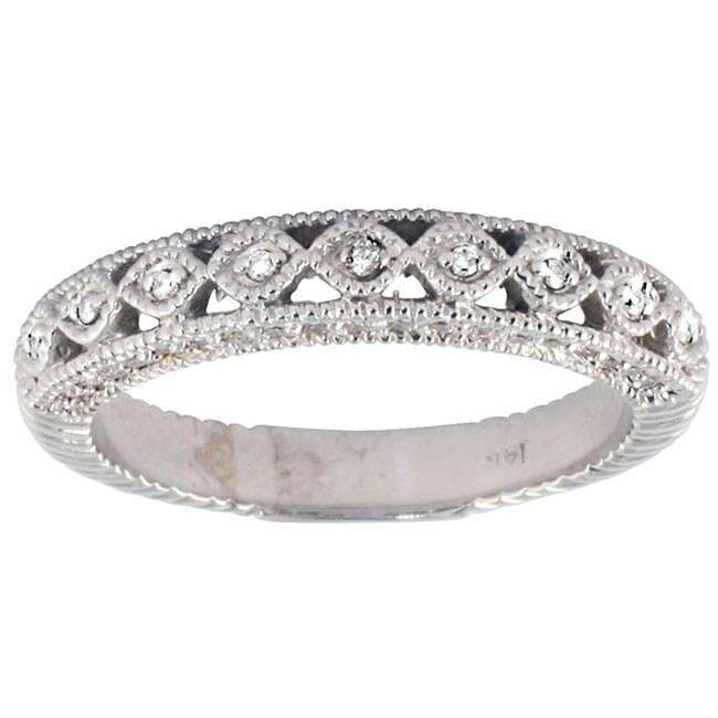 Marquee Jewels 14k White Gold 1/2ct TDW Diamond Antique Ring (I-J, I1-I2)