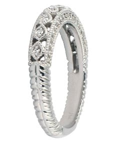 Marquee Jewels 14k White Gold 1/2ct TDW Diamond Antique Ring (I-J, I1-I2)