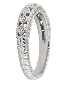 Marquee Jewels 14k White Gold 1/2ct TDW Diamond Antique Ring (I-J, I1-I2) - Thumbnail 1
