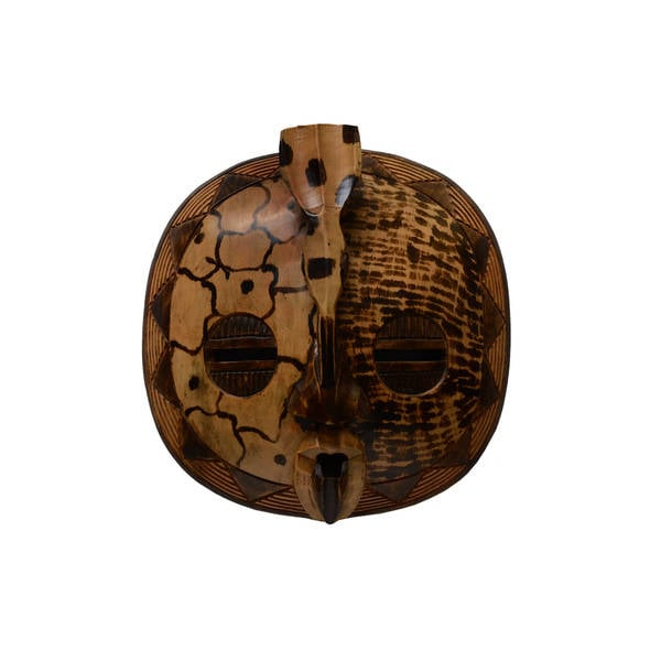 Handmade Large Round Bird Mask, Handmade in  , Handmade in Ghana