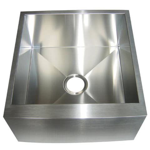 Kingston Brass Farmhouse 21-inch Stainless Steel Undermount Apron-Front Kitchen Sink - Silver