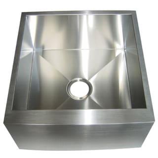 Kingston Brass Farmhouse 21-inch Stainless Steel Undermount Apron-Front Kitchen Sink
