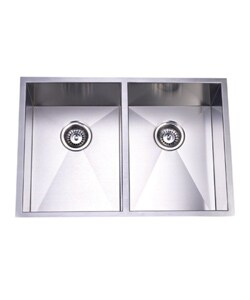 Stainless Steel Double-Bowl Undermount Kitchen Sink - Stainless Steel