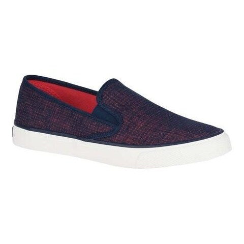 Women's Sperry Top-Sider Seaside Slip On Navy/Coral Fabric/Textile