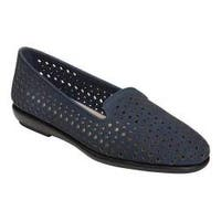 Women's Aerosoles You Betcha Slip-On Navy Perfed Nubuck