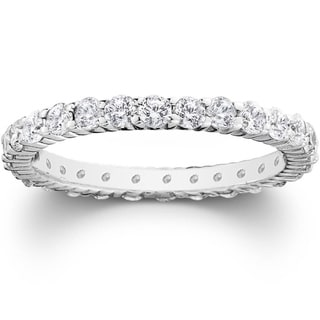 Link to Pompeii3 Platinum 1 ct TDW Diamond Eternity Ring Womens Wedding Anniversary Stackable Engagement Band Similar Items in Wedding Rings
