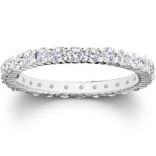 Pompeii3 Platinum 1 ct TDW Diamond Eternity Ring Womens Wedding Anniversary Stackable Engagement Band