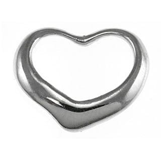14k White Gold Floating Heart Charm
