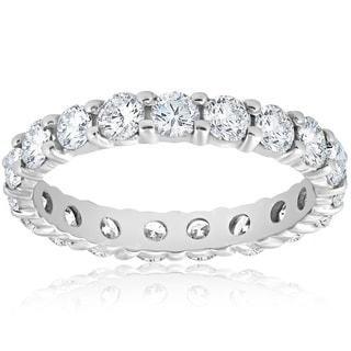 Link to Pompeii3 Platinum 2 ct TDW Diamond Eternity Ring Womens Wedding Anniversary Stackable Engagement Band Similar Items in Wedding Rings