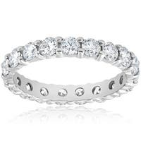 Bliss Platinum 2 ct TDW Diamond Eternity Ring Womens Wedding Anniversary Stackable Engagement Band