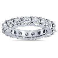 Bliss Platinum 4 ct TDW Diamond Eternity Ring Womens Wedding Anniversary Stackable Engagement Band