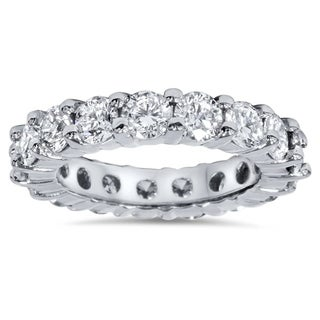 Bliss Platinum 4 ct TDW Diamond Eternity Ring Womens Wedding Anniversary Stackable Engagement Band