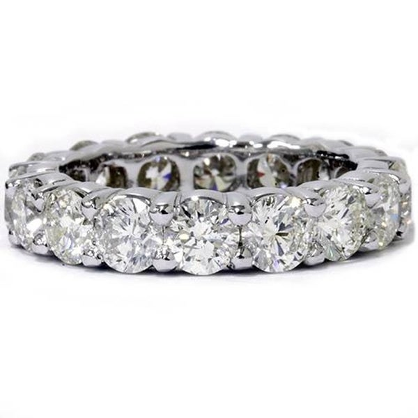 Pompeii3 Platinum 5 ct TDW Diamond Eternity Ring Womens Wedding Anniversary Stackable Engagement Band. Opens flyout.