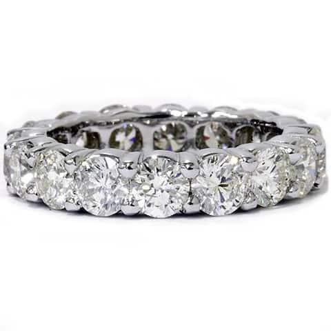 Pompeii3 Platinum 5 ct TDW Diamond Eternity Ring Womens Wedding Anniversary Stackable Engagement Band