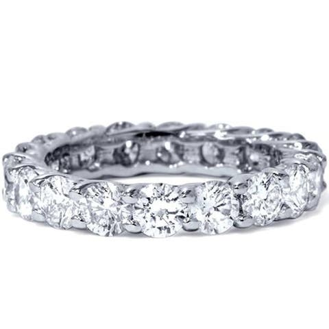 Pompeii3 Platinum 3 ct TDW Diamond Eternity Ring