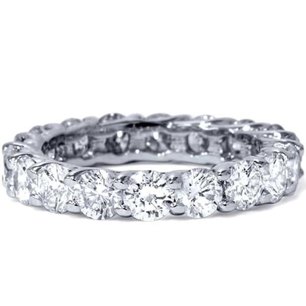 Shop Bliss Platinum 3 Ct TDW Diamond Eternity Ring Womens