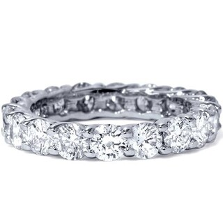 Bliss Platinum 3 ct TDW Diamond Eternity Ring Womens Wedding Anniversary Stackable Engagement Band