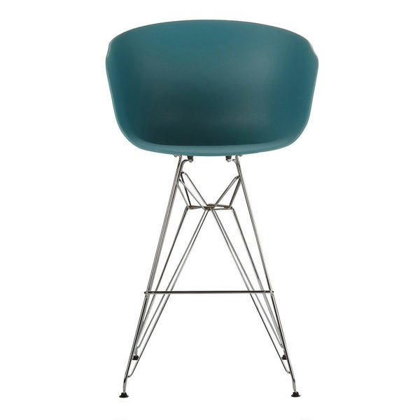 Danish Counter Seat: Shop Danish Modern Counter Stool With Metal Eiffel Legs