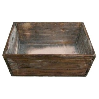 Stained brown washed wood tray