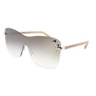 Jimmy Choo Square Mask 137 NQ Women Palladium Frame Brown Mirrored Gradient Lens Sunglasses
