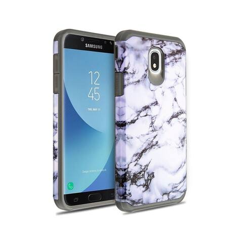 a4daff8398 Insten White/Gray Astronoot Marble Dual Layer Hybrid PC/TPU Rubber Case  Cover for