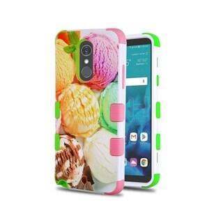 Insten Multi-color Tuff Ice Cream Scoops Dual Layer Hybrid PC/TPU Rubber Case Cover for LG Stylo 4/Stylo 4 Plus