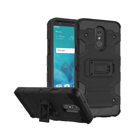Insten Storm Tank Dual Layer Hybrid Stand PC/TPU Rubber Case Cover for LG Stylo 4/Stylo 4 Plus