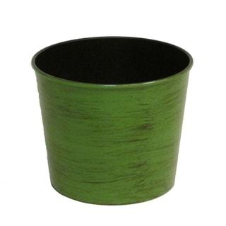 "Hand Painted 5.5""H Round Plastic Pot Planter"