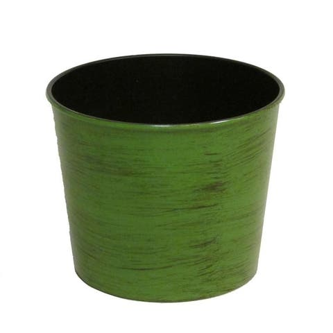 Hand-painted 5.5-in. Round Plastic Pot Planter