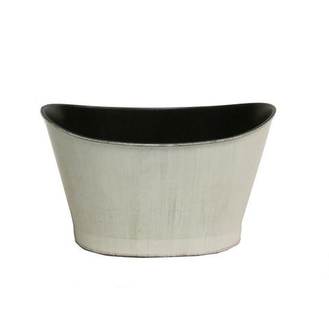 Hand Painted Boat Shape Plastic Pot Planter