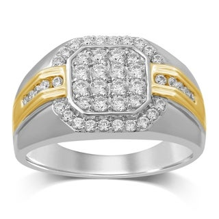 Unending Love 10K Two Tone Gold 7/8 Cttw Diamond Gent's Ring