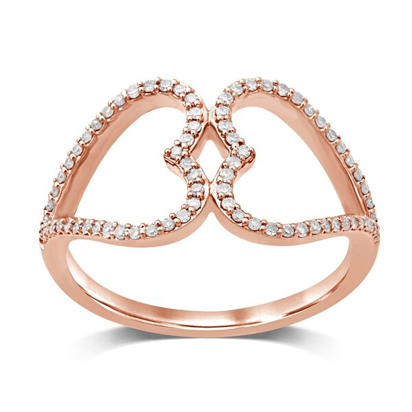 Shop Unending Love 10K Rose Gold 1/5 Cttw Diamond Double