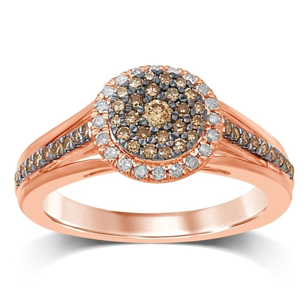 Shop Unending Love 10K Rose Gold White And Champagne