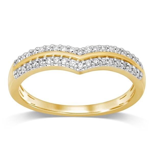 Shop Unending Love 10K Yellow Gold 1/5 Ctttw Diamond