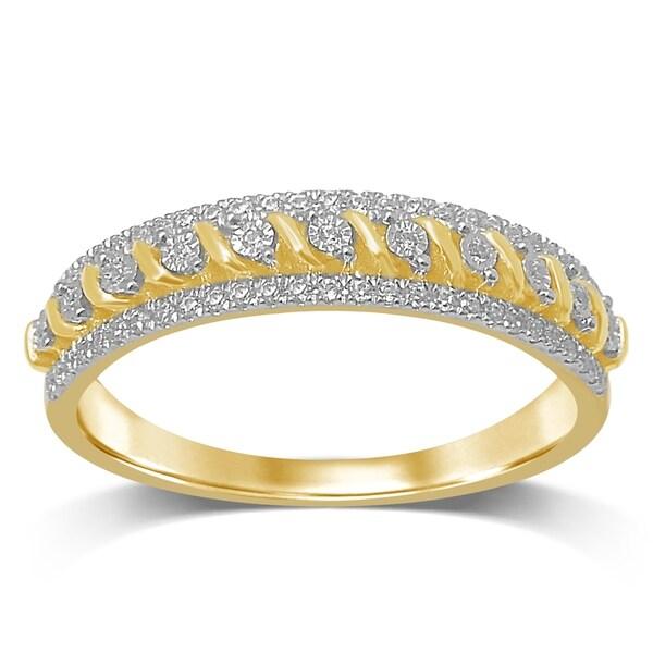 Shop Unending Love 10K Yellow Gold 1/6 Cttw White Diamond