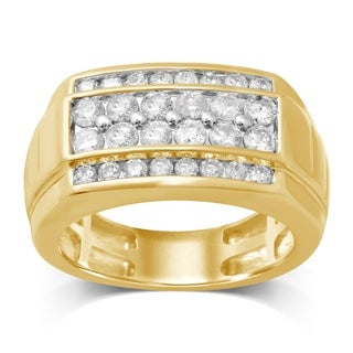 Unending Love 10K Yellow Gold 1 1/2 Cttw White Diamond Gent's Ring