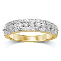 Unending Love 10K Yellow Gold 1/2 Cttw White Diamond Wedding Band