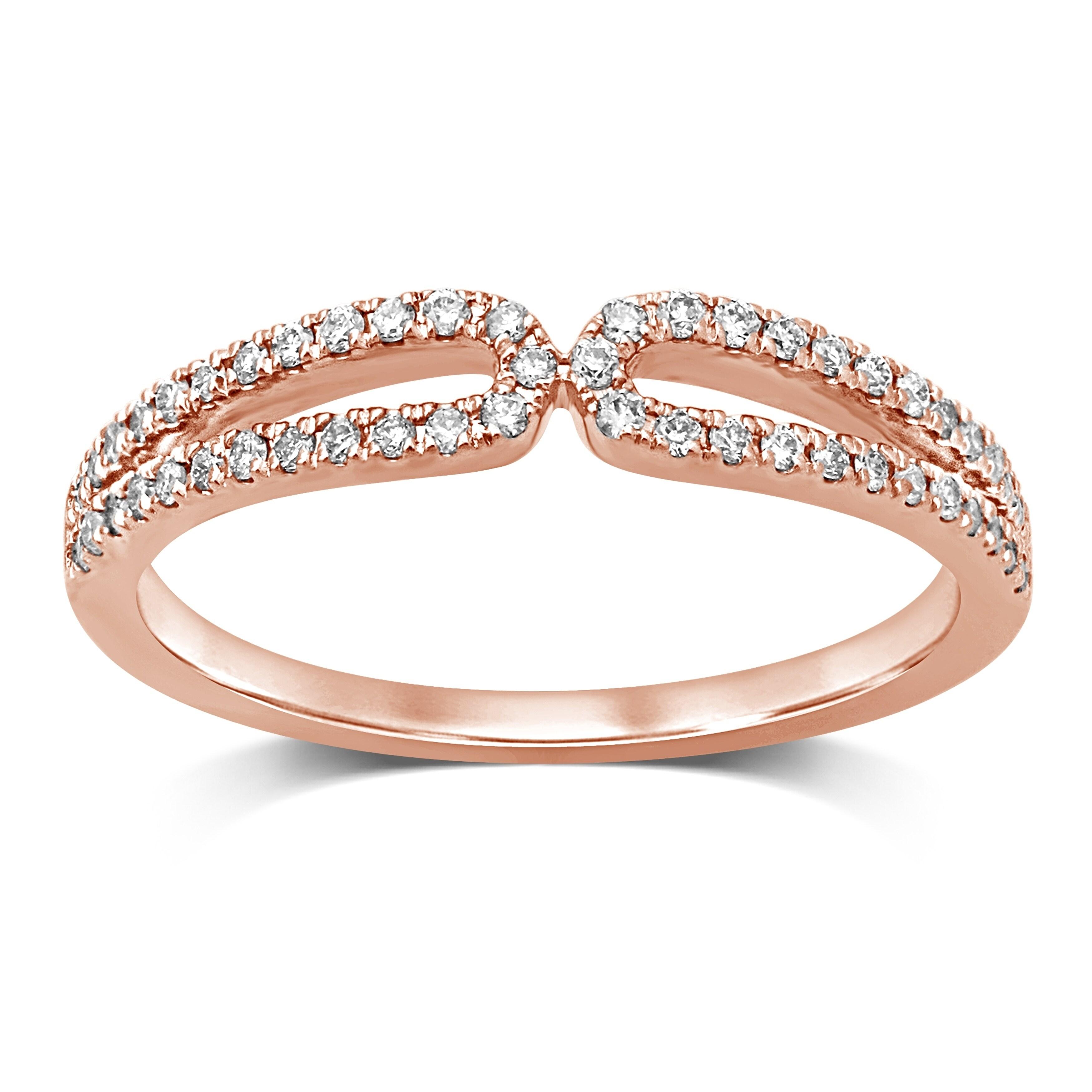 Shop Unending Love 10k Gold 1 4 Cttw White Diamond Wedding Fashion