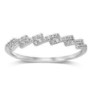 Unending Love 10K Gold 1/10 Cttw White Diamond Stackable Ring Band