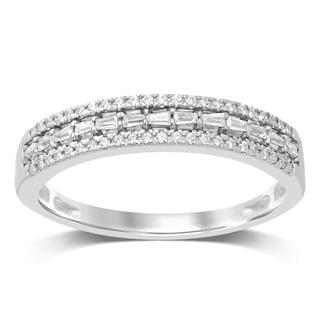 Unending Love 10K White Gold 1 4 Cttw White Diamond Wedding Band