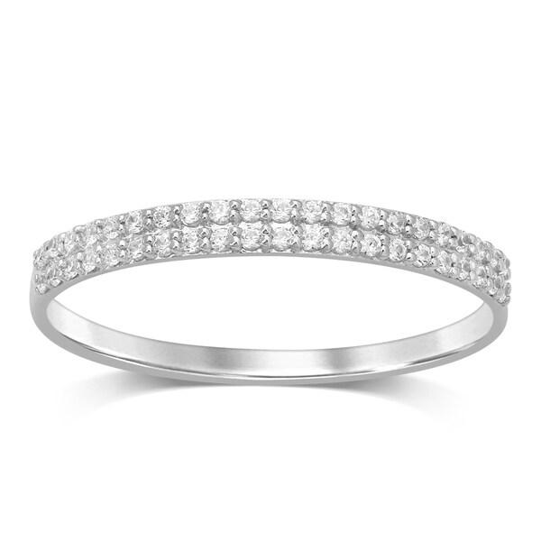 Shop Unending Love 10K Gold 1/6 Cttw White Diamond 2 Row