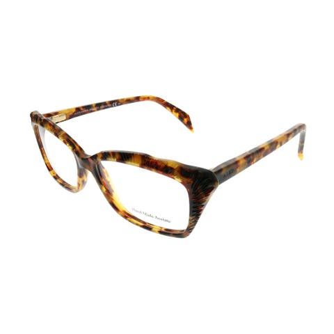 Alexander McQueen Cat-Eye AMQ 4205 YHA Women Havana Frame Eyeglasses