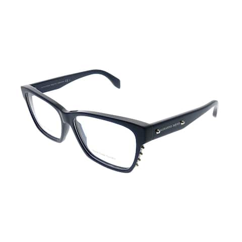 Alexander McQueen Square AMQ 4265 X2V Unisex Blue Frame Eyeglasses