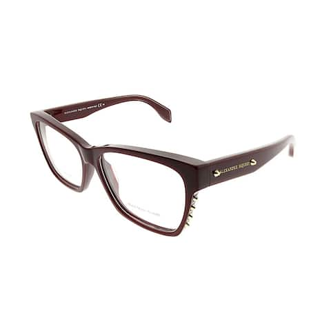 Alexander McQueen Square AMQ 4265 LHF Unisex Bugundy Frame Eyeglasses