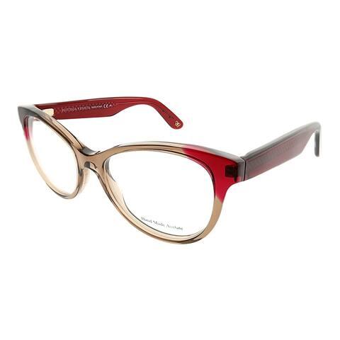 Bottega Veneta Cat-Eye BV 266 4CT Women Transparent Brown Red Frame Eyeglasses