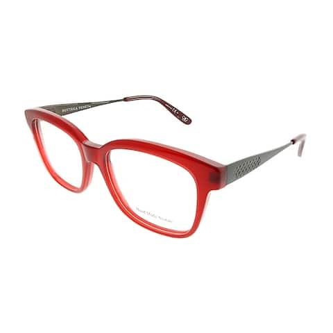 Bottega Veneta Square BV 242 F2H Unisex Burgundy Frame Eyeglasses
