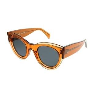 Celine Cat-Eye CL 41447 L7Q Women Transparent Orange Frame Grey Lens Sunglasses