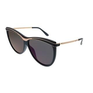 Elie Saab Cat-Eye ES 024/G/S PJP_QQ Women Blue Frame Blue Mirror Zeiss Lens Sunglasses