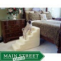 PetStairz 6-step Soft and Portable Foam Steps and Beige Sherpa Cover