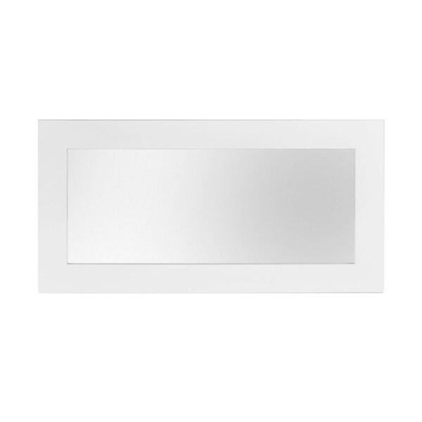HomeRoots Furniture Modern Rectangular Mirror in High Gloss Finish - White